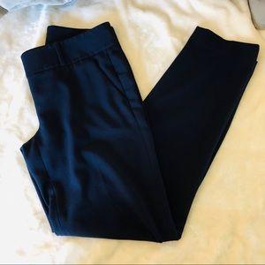 Loft Marisa straight leg navy slacks